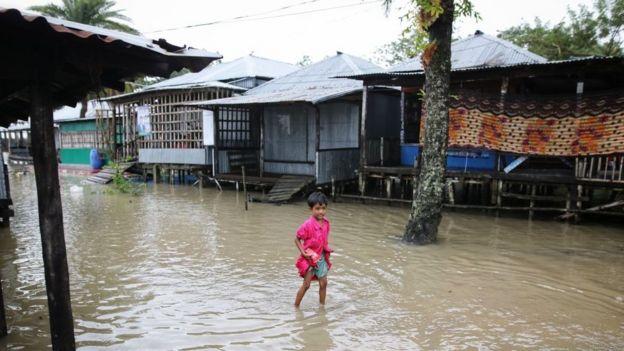 Inundaci�n provocada por el cicl�n Bulbul en 2019