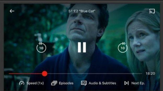 Una captura de pantalla de Netflix