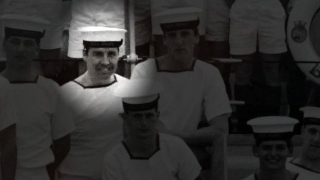 Joe Ousalice during his time serving with the Royal Navy