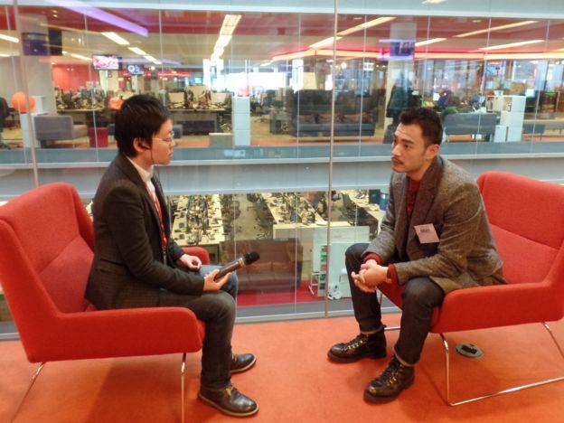 李体育直播光洁接受BBC英伦网记者子川专访(摄影:张艺馨)