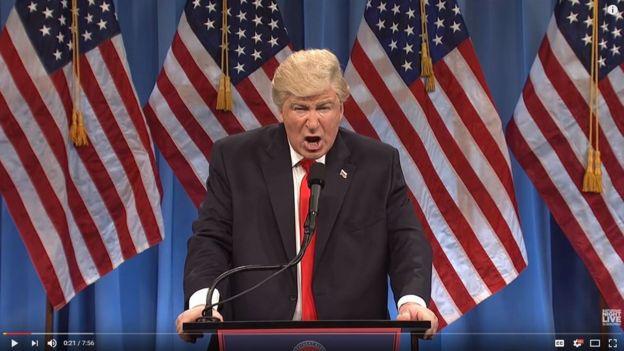 Baldwin como Donald Trump