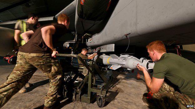 RAF Tornado GR4's at RAF Akrotiri Cyprus being armed