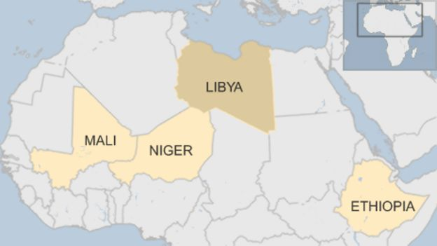 Africa a priority as merkels germany aims to stem migration bbc map gumiabroncs Choice Image