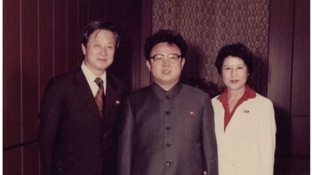 "Screenshot from ""North Korean Kidnap - The Lovers and the Despot"" showing Shin, Kim and Choi (L to R)"