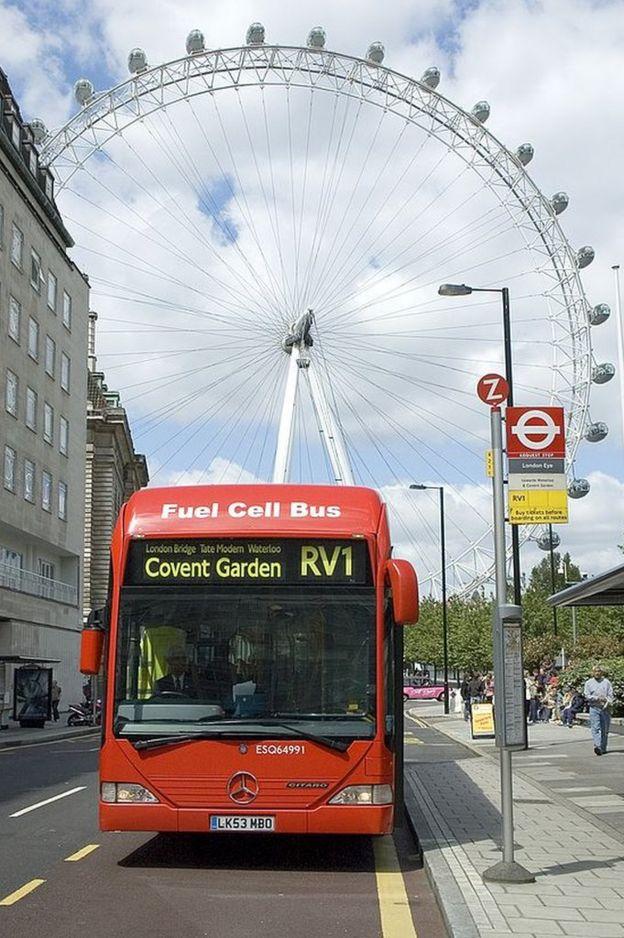 Un autobús con celdas de hidrógeno en Londres