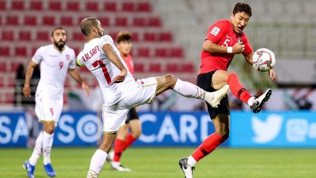 المنتخب الكوري الجنوبي واجه صعوبة في مباراته مع البحرين