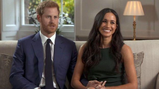 La pareja en su primera entrevista como prometidos.