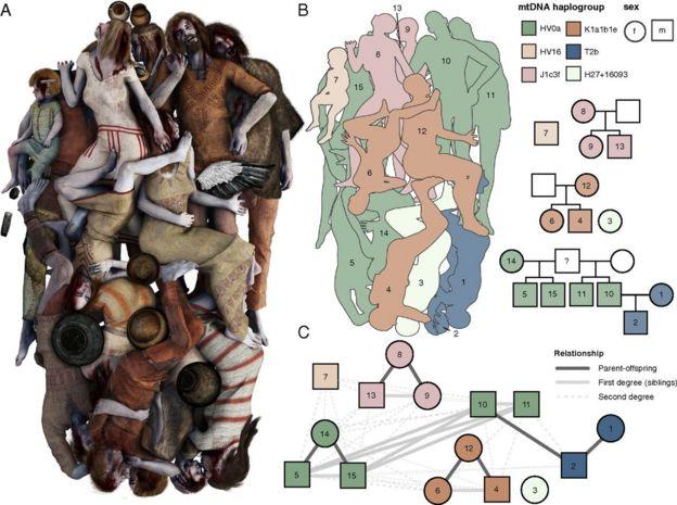 схема расположения тел