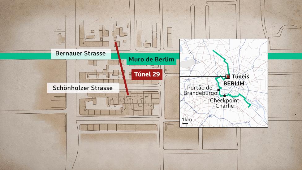 mapa da fuga