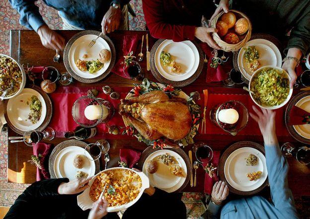 Una mesa de Acción de Gracias