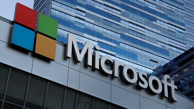Un edificio corporativo de Microsoft