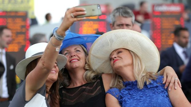 e16f60bde9bb2 Fashion stakes high at Epsom Ladies  Day - BBC News