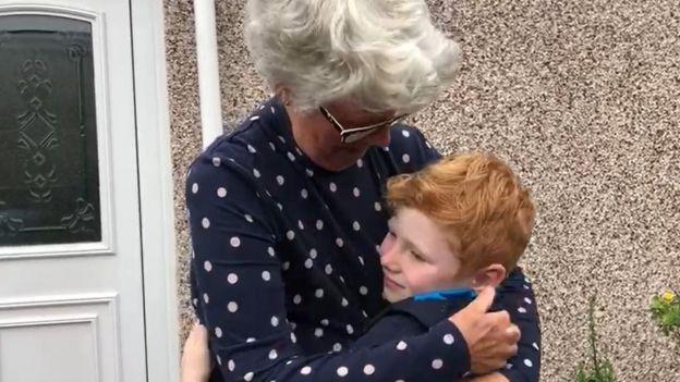 Noah with his gran