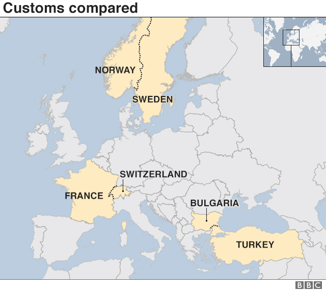 Norway On Map Of Europe.Brexit What Can Uk Learn From Other External Eu Borders Bbc News
