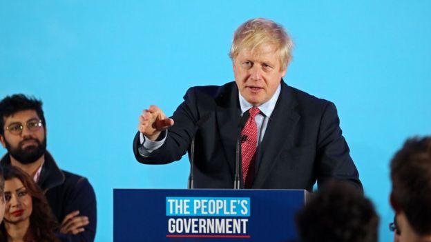 约翰逊领导的保守党取得英国议会下议院大多数议席。