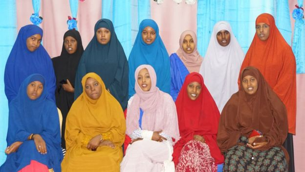 Maryan and the other women journalists in SOMWA