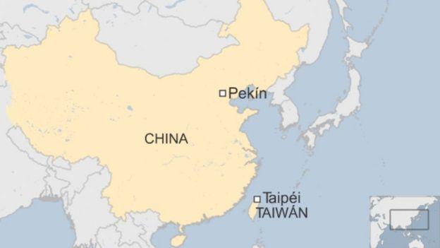 Mapa de China y Taiwán