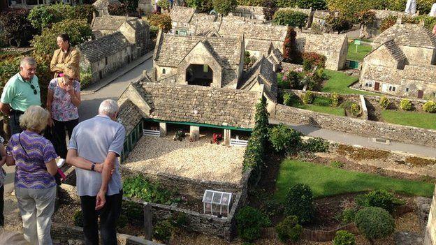 Visitors in Bourton model village