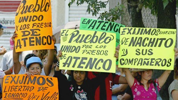 Protesta en México.