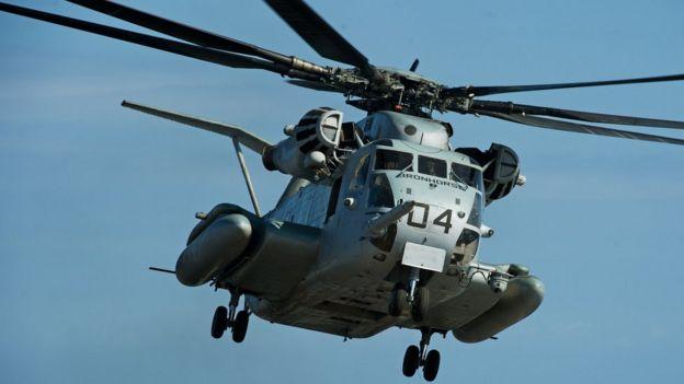 Helicóptero Super Stallion Foto de archivo.