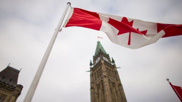 Una bandera de Canadá