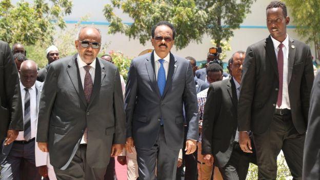 Labada Madaxweyne Xilli ay Villa Somalia sii galayeen
