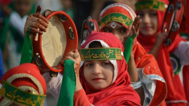 الاحتفالات بعيد المولد النبوي في باكستان