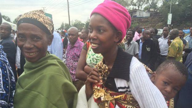 Voters in Tanzania
