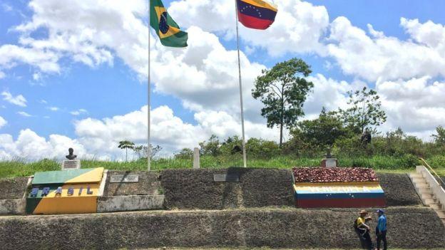 Fronteira do Brasil com a Venezuela em Pacaraima