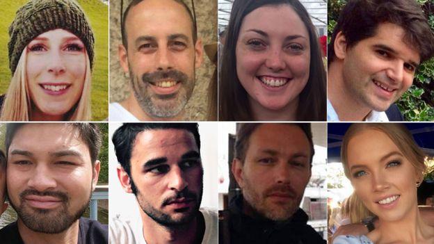 Clockwise: Chrissy Archibald, Sebastien Belanger, Kirsty Boden, Ignacio Echeverria, Sara Zelenak, Xavier Thomas, Alexandre Pigeard, James McMullan