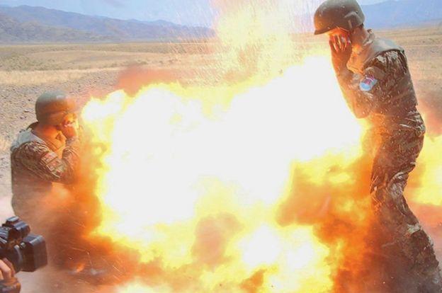 阿富汗士兵在被炸身亡前拍摄的照片。