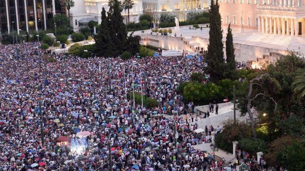 احتجاجات اليونان مؤخرا