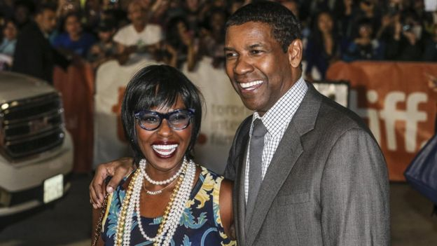 Denzel Washington et son épouse Pauletta.