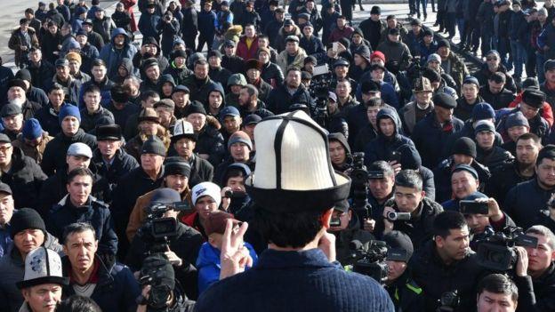 Антикитайский протест в Бишкеке
