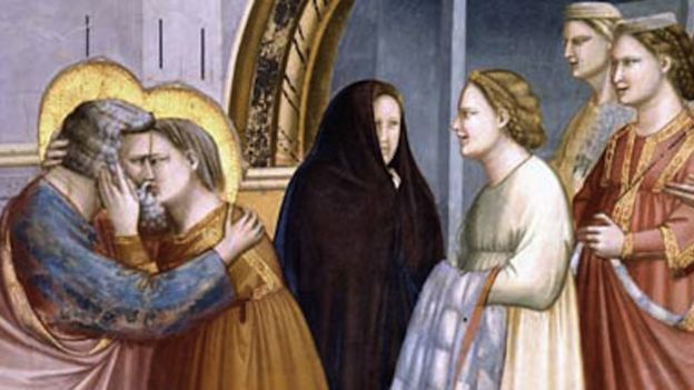 Representação dos avós de Jesus na Capela dos Scrovegni, em Pádua
