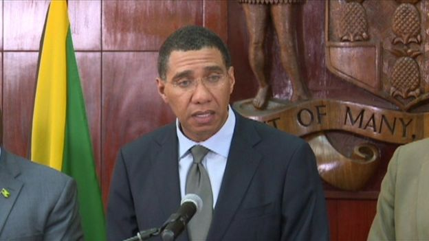 Jamaican prime minister, Andrew Holness