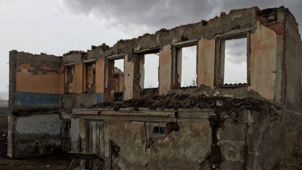 Покинутый дом азербайджанцев в Дзюнашохе