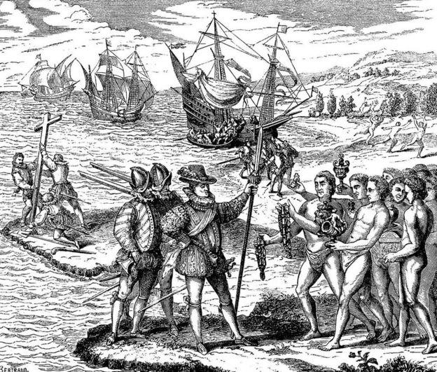 Viajes de Colón a América.