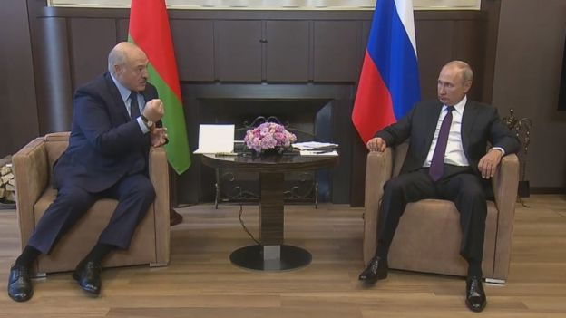 Во время встречи Лукашенко с Путиным
