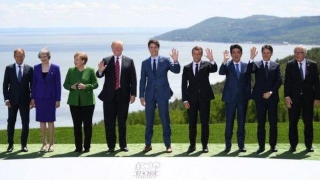قادة دول مجموعة السبع ومسؤولين كبار في الاتحاد الأوروبي يجتمعون في كيبيك