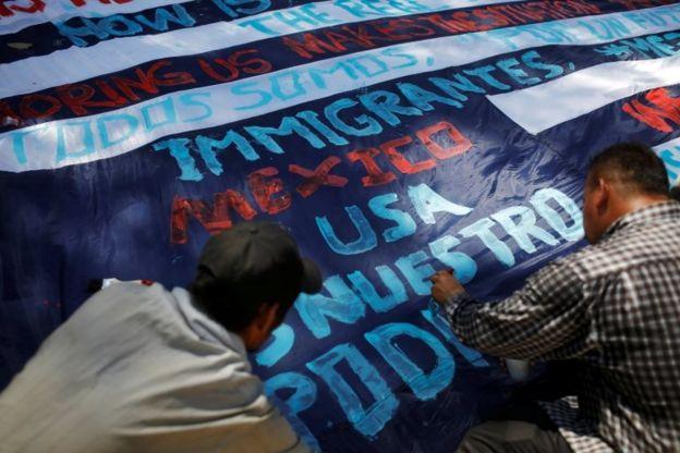 Una nueva caravana conformada en su mayoría por hondureños atravesó Guatemala el pasado enero con rumbo a EE.UU.