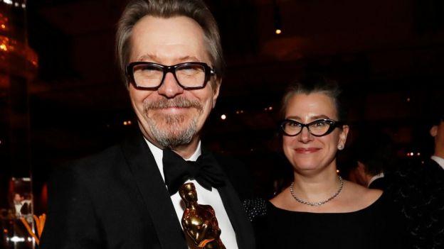 """El británico Gary Oldman ganó el Oscar por su papel como Winston Churchill en """"Darkest Hour""""."""