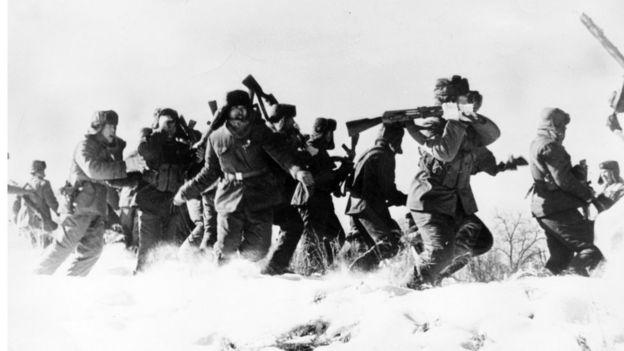 Китайские военнослужащие на острова Даманский (январь 1969 года)