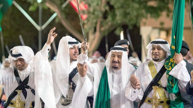 El rey saudita