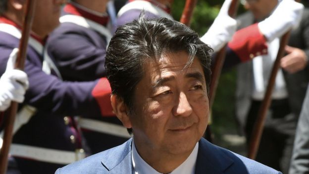 Primer ministro japonés.
