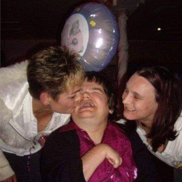 Rachel Johnston celebrating her 40th birthday