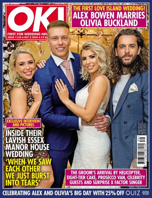 cae74e02a12 Love Island s Olivia Buckland and Alex Bowen get married - BBC News