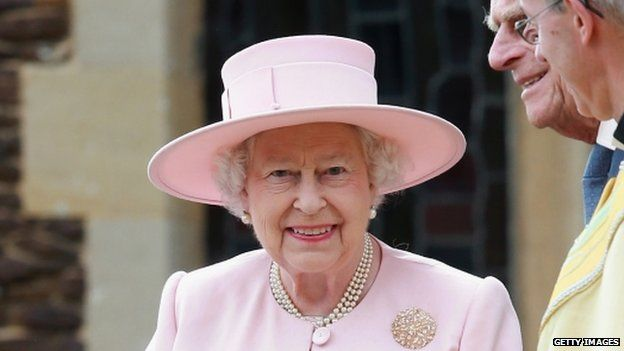 The Queen attends Princess Charlotte's christening