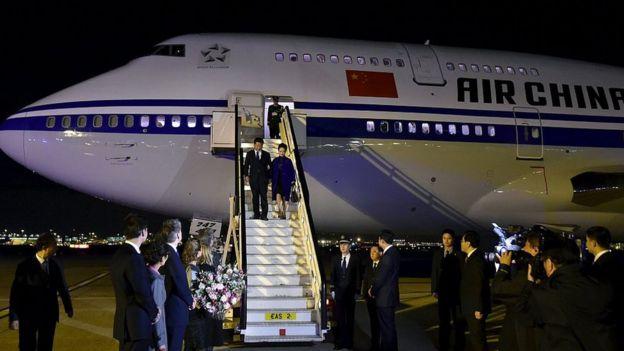 Xi y su esposa