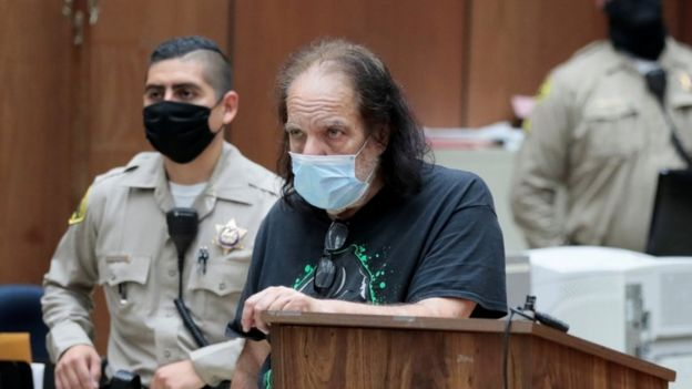 Adult film star Ron Jeremy appears in Los Angeles County Superior Court, California, 23 June 2020
